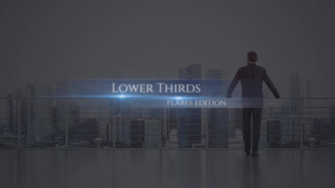 Lower Thirds Flares After Effects Template