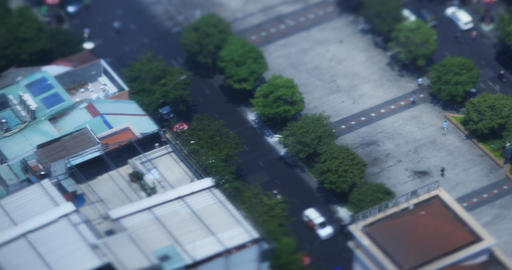 A miniature cityscape at Nguen hue street in Ho Chi Minh high angle view Live Action