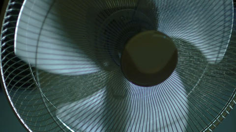 Working cooling electric fan slow motion Footage