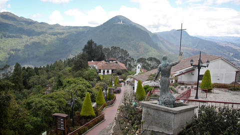 Jesus Statue at Monserrate Footage