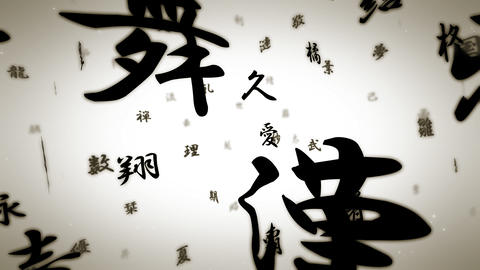 floatingText B kanji PJ Animation