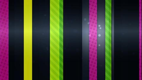 光沢のあるストライプ-蛍光色 CG動画