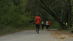 group young athletes running Footage