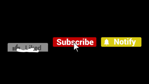 YouTube Reminders Motion Graphics Pack 01 Animation