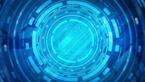 Abstract circles technology background Animation