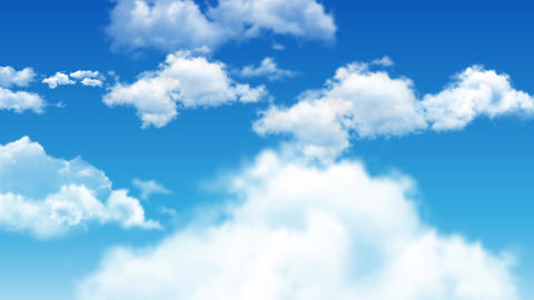 06Cloud and sky animate background Animation