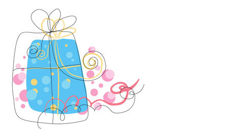 isolated christmas season gift box waiting to be open decorated with fantasy and feminine ornaments Animation