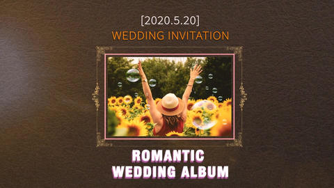 Romantic Wedding Album After Effectsテンプレート
