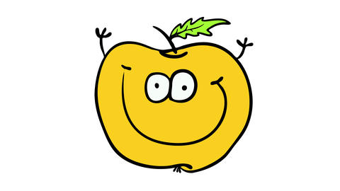 hand picked organic vegan orange smiling and emanating positive attitude suggesting it is good for Animation