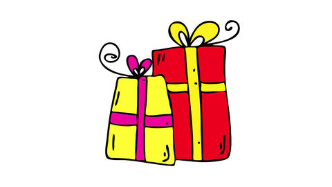 decorative packaging business selling arranged gift boxes with ornaments cute wrapping papers and a Animation