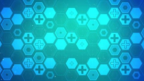 Hexagon Health Plus Pattern Background Concept Animation