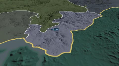Kaesŏng - special administrative region of North-Korea. Administrative Animation