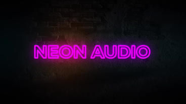 Neon Audio Waveform After Effects Template