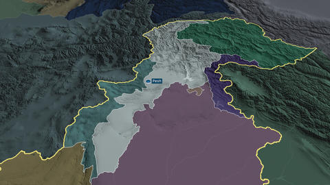 N.W.F.P. - province of Pakistan. Administrative Animation