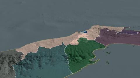 Colón - province of Panama. Administrative Animation