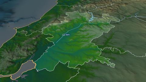 Santarém - district of Portugal. Physical Animation