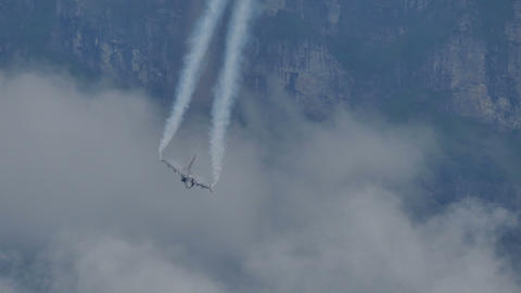 Saab JAS 39 Gripen fighter aircraft of Swedish AirForce Live Action