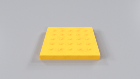 Braille block01 Modelo 3D