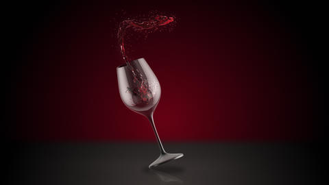 Wine Glass Splash Animation