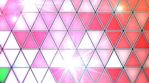 三角モザイクタイル - ダンスフロア CG動画