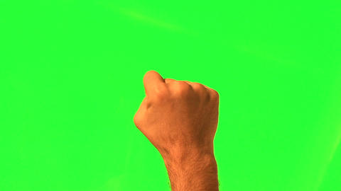Male hand gestures - green screen and alpha matte Footage
