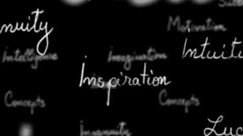 Background - Seamless loop of inspirational words with... Stock Video Footage