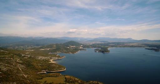 067 Aerial Jezero Krupac Lake Montenegro 02 4K Footage