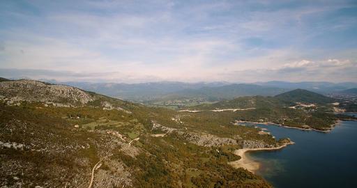 068 Aerial Jezero Krupac Lake Montenegro 03 4K Footage