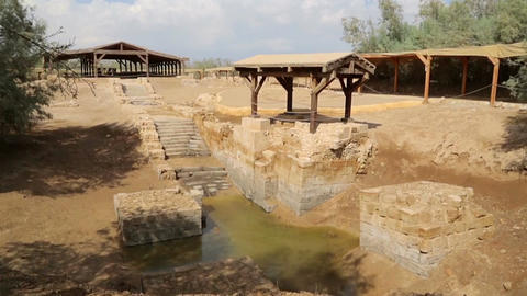 Baptismal Site, where Jesus was baptised by John the Baptist Footage