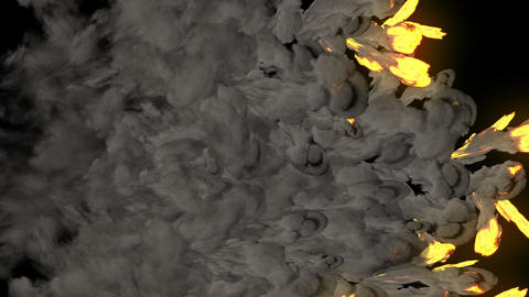 Realistic Fire And Smoke Explosins Transitions Motion Graphics Pack Animation
