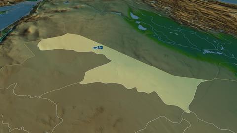 Al Hudud ash Shamaliyah - region of Saudi-Arabia. Physical Animation