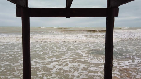 Stormy seas during bad weather Live Action