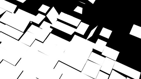 The movement of geometric elements of rectangular shape Live Action