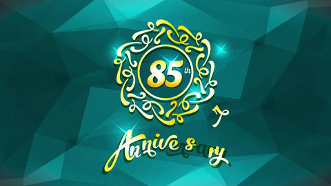 special 85th anniversary birthday greeting card for a very loved person with elegant elements Animation