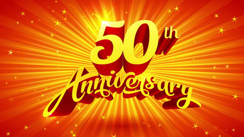 large waited high grade ritual announcement celebrating 50th anniversary of a distinguished elegance Animation