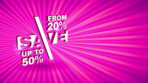 fuchsia sunshine mark for huge reduce presentation with up towards 50 percent off on quality good Animation