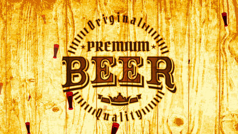 premium beer distillery bar advertisement with retro part on burned wood scene for industrial CG動画