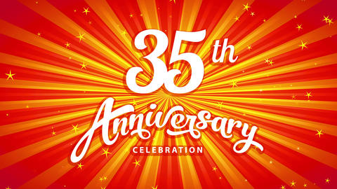 35th anniversary celebrating mark of famous director celebrating on classic path throwing a big Animation