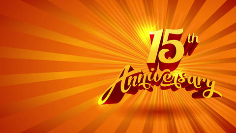 15 period anniversary of restaurant celebrating teamwork and collaboration with artistic nutrient CG動画