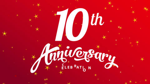bridal anniversary ceremony greeting postcard for 10th year goal for valentines day with red scene Animation