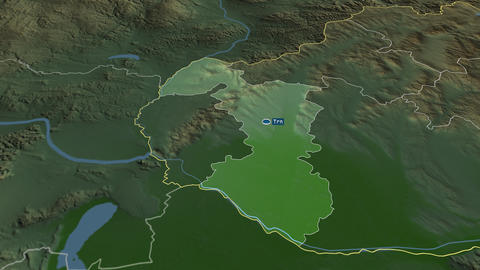 Trnavský - region of Slovakia. Physical Animation