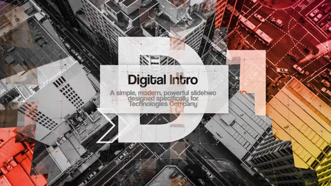 Digital Technology Intro Premiere Proテンプレート
