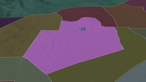 Bay - region of Somalia. Administrative Animation