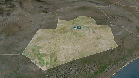 Bay - region of Somalia. Satellite Animation