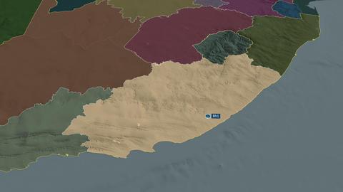Eastern Cape - province of South-Africa. Administrative Animation