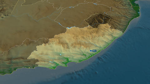 Eastern Cape - province of South-Africa. Physical Animation