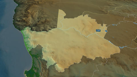 Northern Cape - province of South-Africa. Physical Animation