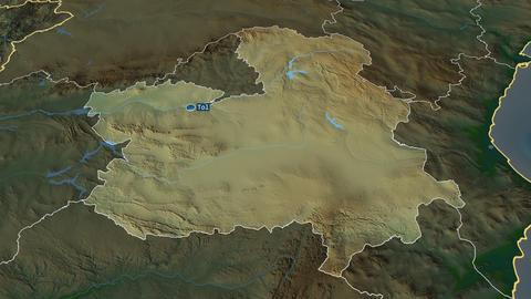 Castilla-La Mancha - autonomous community of Spain. Physical Animation