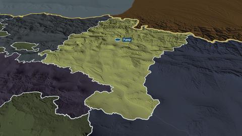 Comunidad Foral de Navarra - autonomous community of Spain. Administrative Animation