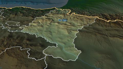 Comunidad Foral de Navarra - autonomous community of Spain. Physical Animation